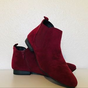 Charming Charlie Red Ankle Boots sz 8.5